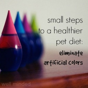 Small Steps to a Healthier Pet: Eliminating Artificial Colors